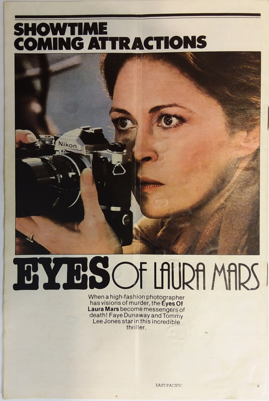 Eyes of Laura Mars - Showtime movie guide