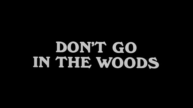 Don't Go In The Woods 01