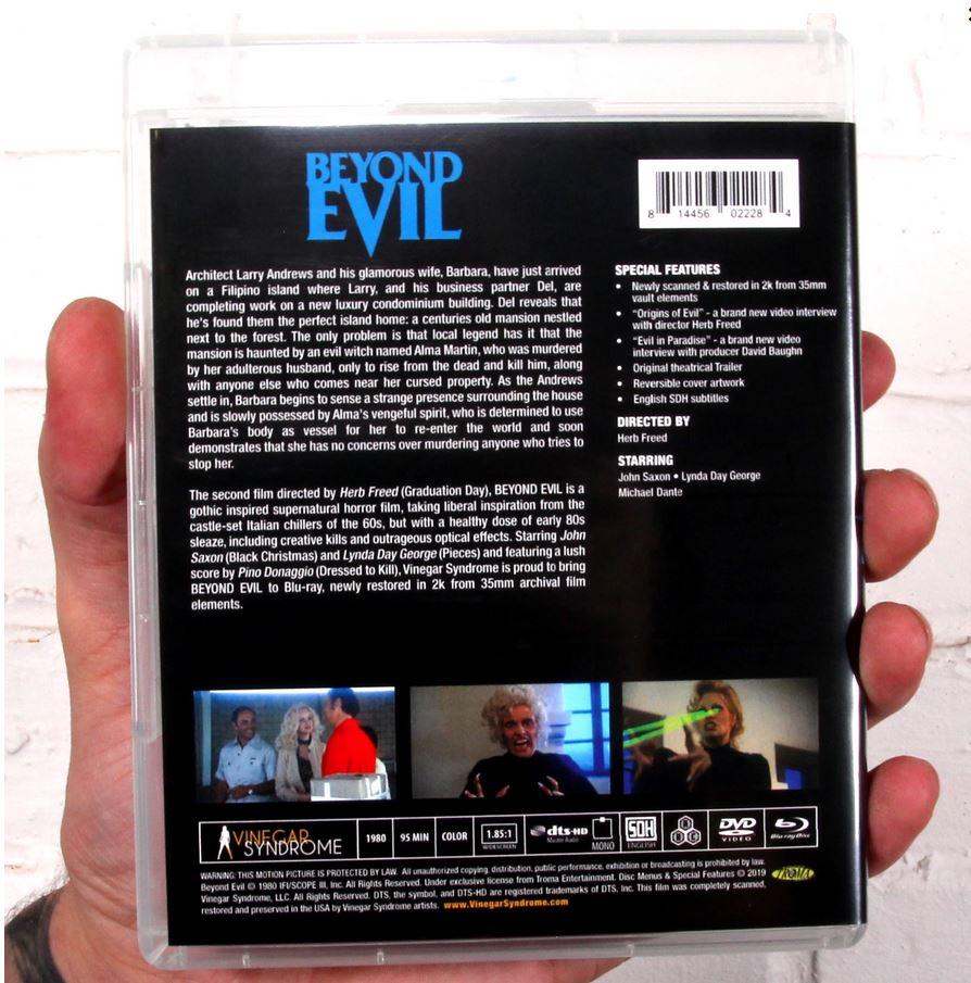 Beyond Evil Blu-ray DVD combo case (back)